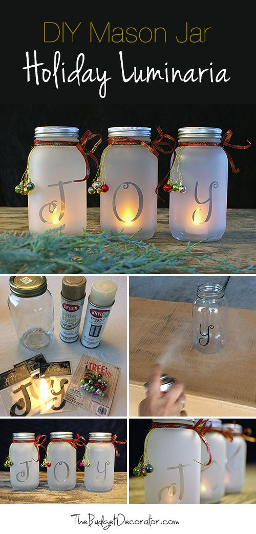 Pinterest christmas crafts with mason jars easy craft ideas christmas mason jar decorations do it yourself solutioingenieria Image collections