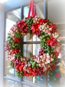 christmas-wreaths-made-from-ribbons-and-bows