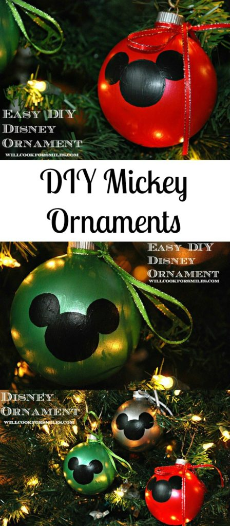 Diy disney christmas decorations christmas do it yourself make your own mickey mouse christmas ornaments so easy to do just paint the solutioingenieria