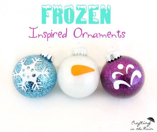 Handmade Christmas ornaments inspired by Disney Frozen
