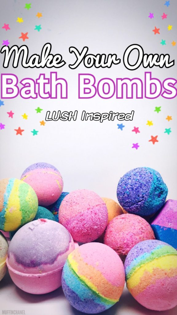 Make your own bath bombs - great gift idea for Moms!
