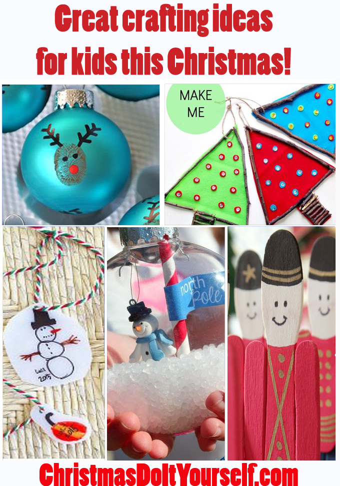 Great Christmas crafting ideas for your kids to make this holiday season!
